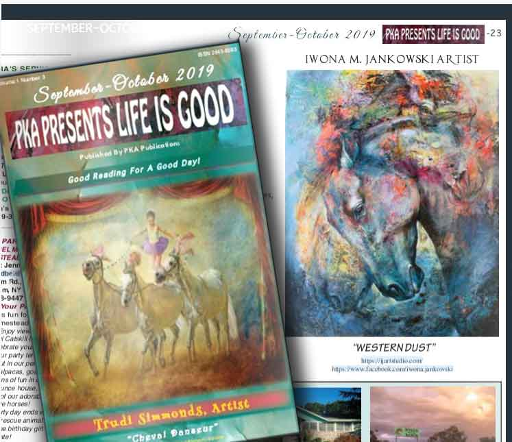 Western Dust published in PKA Presents Life is Good magazine, Sept-Oct 2019 issues.